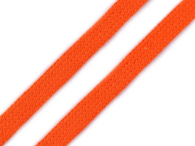 Baumwollkordel flach / Schlauchband Breite 12mm