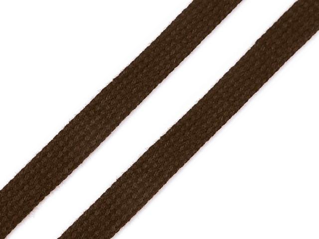 Bavlněná šňůra plochá / dutinka šíře 12 mm