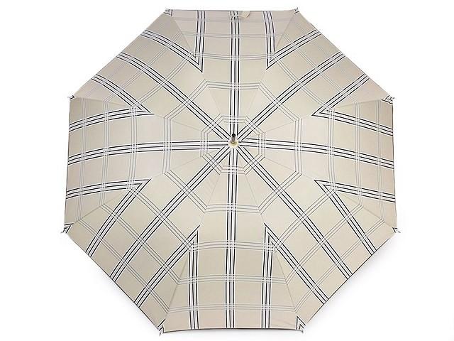 Dámsky vystrelovací dáždnik károvaný
