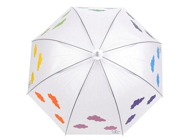 Dámsky vystreľovací dáždnik čarovný s mrakmi