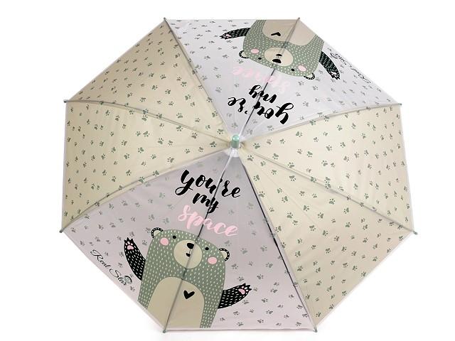 Dětský vystřelovací deštník  medvěd, zajíc