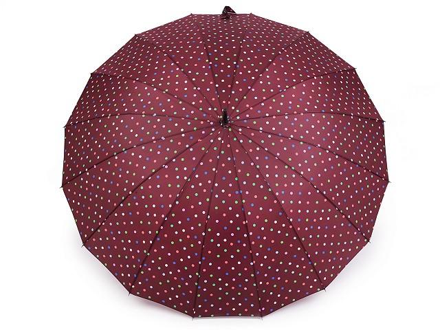 Veľký rodinný dáždnik s bodkami
