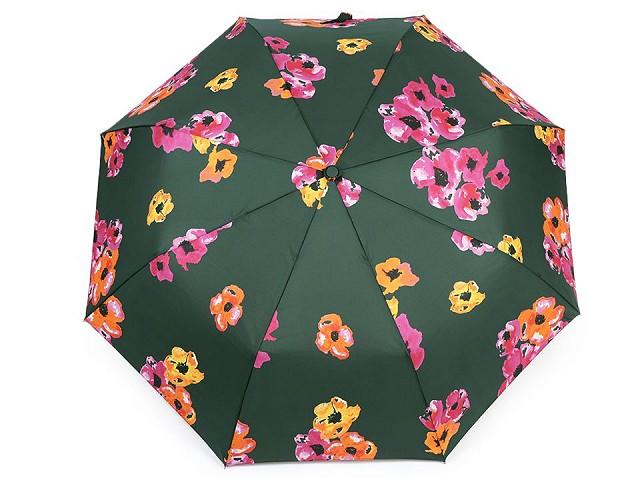 Dámsky skladací vystrelovací dáždnik kvety