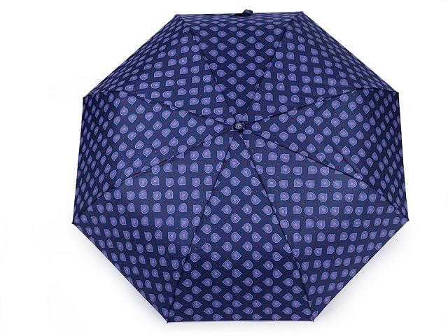 Dámsky skladací vystrelovací dáždnik kvapky