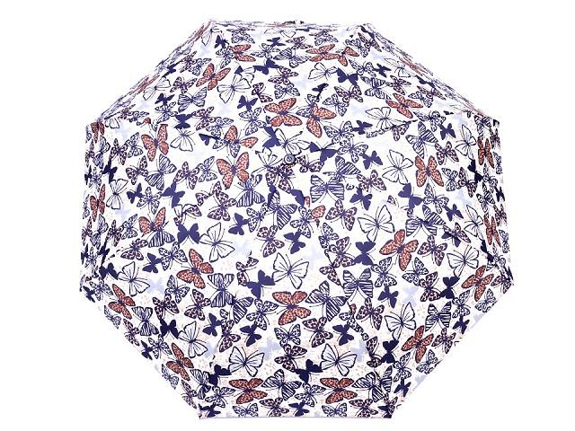 Dámsky mini skladací dáždnik motýľ