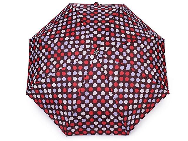 Dámsky mini skladací dáždnik bodka
