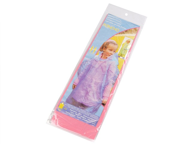 Detský pršiplášť poncho jednorázový