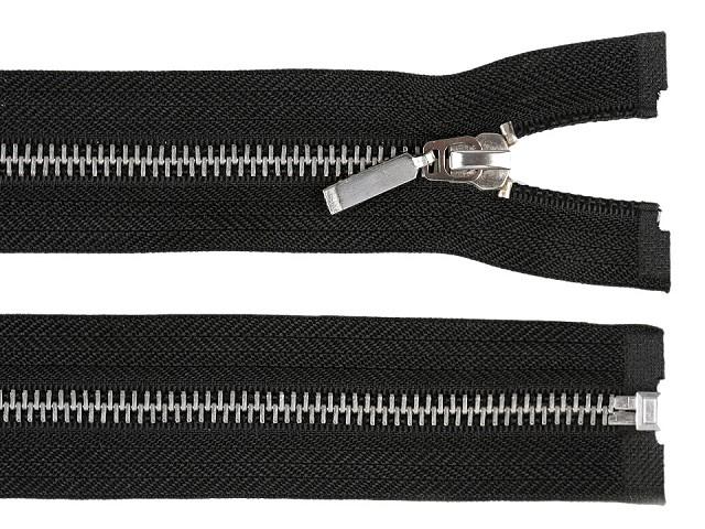 Kovový / mosazný zip šíře 6 mm délka 70 cm