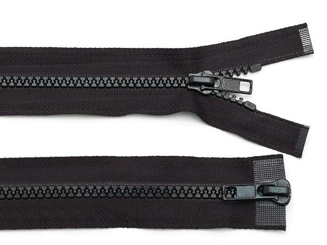 Zips kostený 5mm deliteľný 2 bežce 80 cm bundový