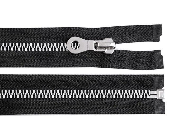 Kostěný zip šíře 8 mm délka 70 cm