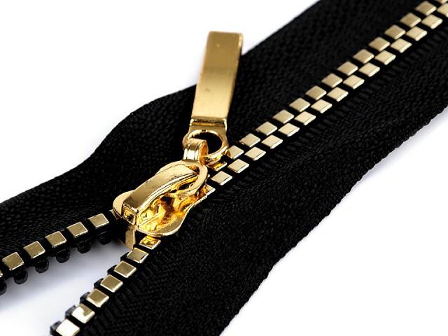 Kostený zips šírka 5 mm dĺžka 50 cm štvorcové zúbky