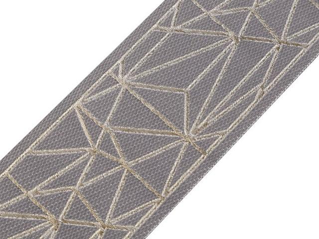 Vzorovka / metráž oboustranná s lurexem šíře 60 mm