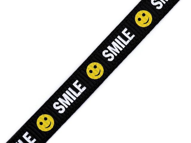 Lampas / rypsová stuha Smile šíře 10 mm