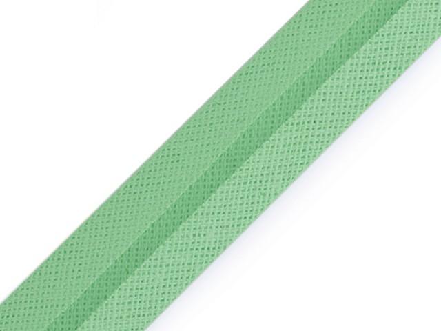 Šikmý prúžok bavlnený šírka 20 mm zažehlený