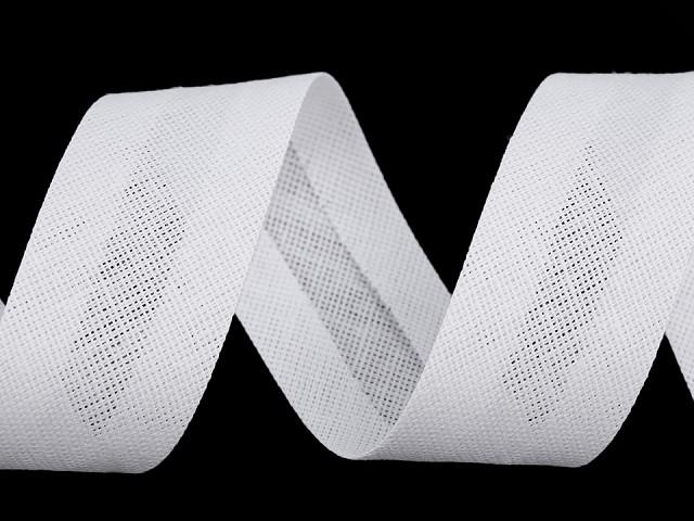 Šikmý prúžok bavlnený šírka 30 mm zažehlený