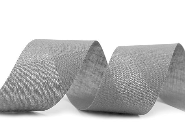Šikmý prúžok bavlnený šírka 40 mm nezažehlený