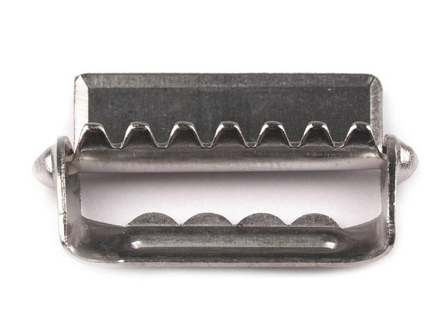 Glissières/ajusteurs de bretelles réglables, avec dents