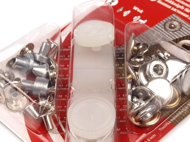 Capse metalice cu aplicator, Ø15 mm