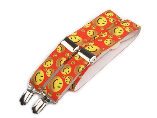 Bretelles de pantalon pour enfants, arrière en Y, motifs smileys, animaux, voitures