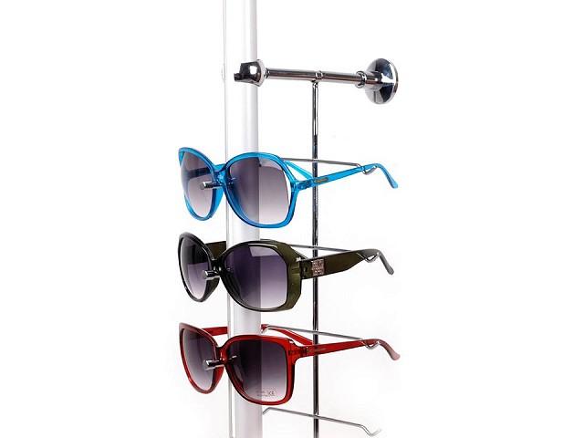 Stojak na okulary metalowy naścienny na 14 szt. okularów