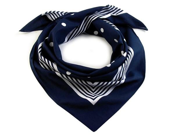Bavlněný šátek s puntíky 70x70 cm