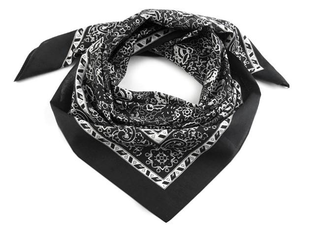 Bavlněný šátek kašmírový vzor 70x70 cm