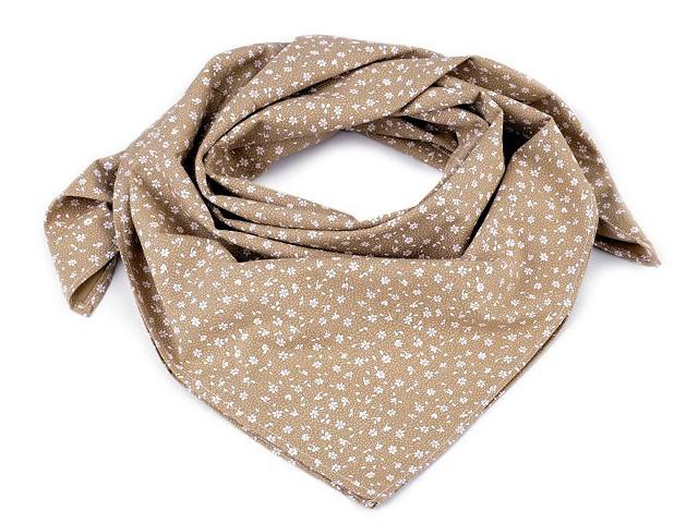 Bavlněný šátek s květy 65x65 cm