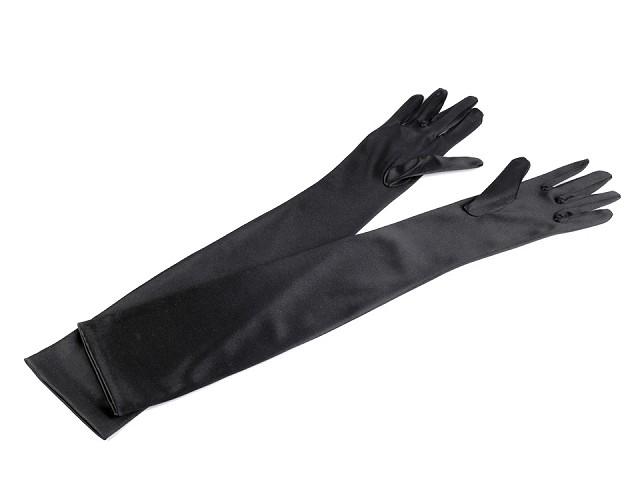 Dlhé spoločenské rukavice saténové