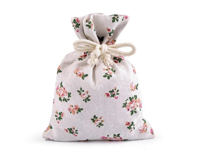Baumwollsäckchen Blumen 13x18 cm