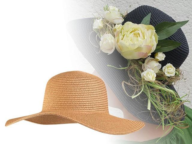 Dámsky klobúk k ozdobeniu