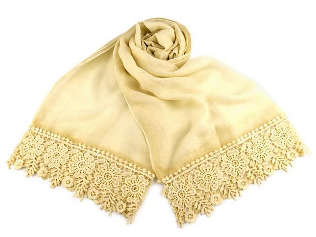 Tuch / Schal mit Spitze