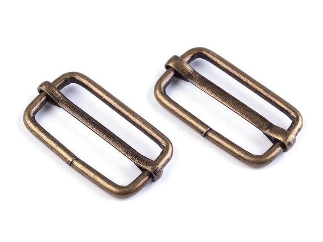 Posunovač na popruhy 25 mm na koženú galantériu