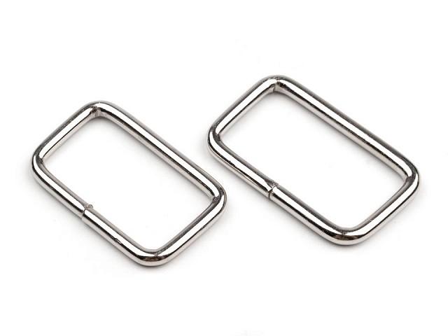 Inel metalic dreptunghiular, 13x25 mm