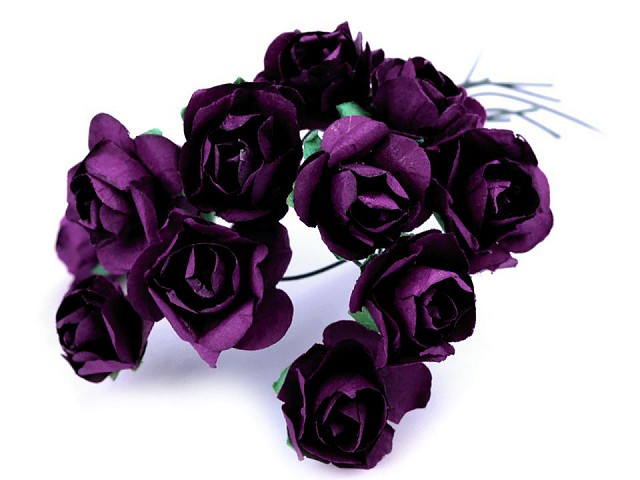 Ruže na drôtiku / polotovar na výväzky Ø20 mm