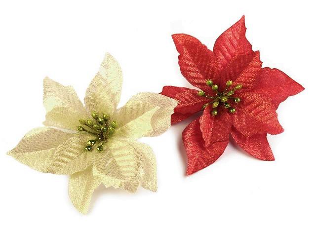 Vianočná hviezda Ø14 cm s lurexom