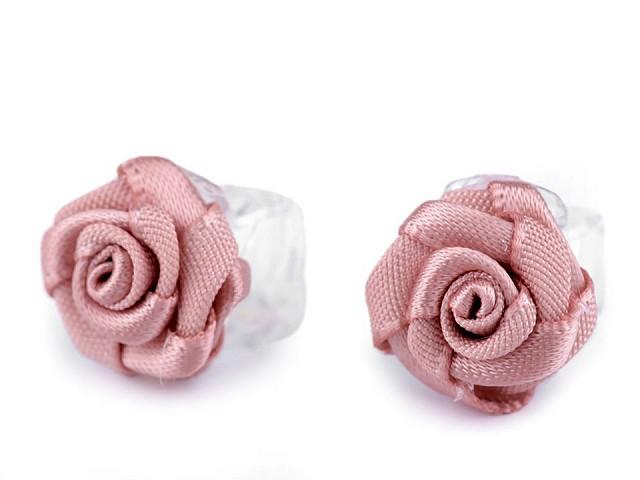 Štipec do vlasov malý 10x13-15 mm s ružičkou