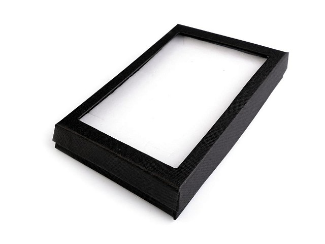 Cutie cu capac transparent, capitonată, 12x16 cm