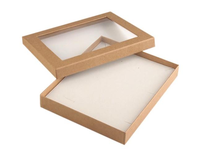 Cutie cu capac transparent, capitonată, 16x19,5 cm