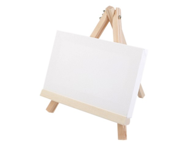 Holz Ministaffelei mit Keilrahmen 18x23 cm
