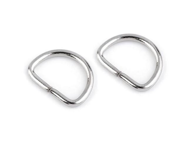 Inel metalic tip D, lățime 12 mm
