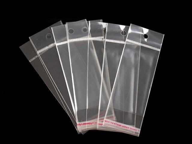 Pungi cu clapetă adezivă și agățătoare, 5x10 cm