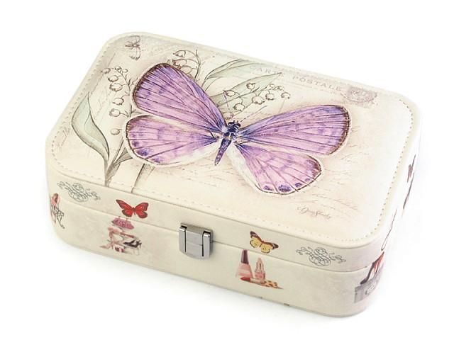 Cutie bijuterii, imprimeu fluture