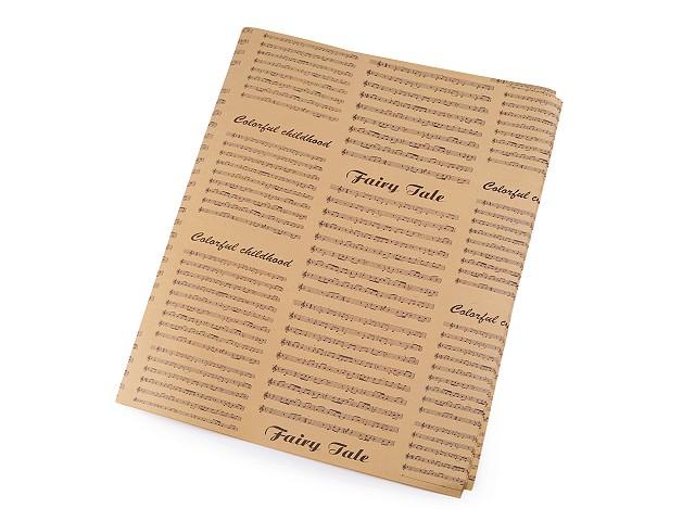 Hârtie decorativă /  Hârtie de împachetat, 49x70 cm