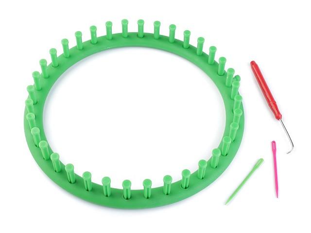 Plastový rámik na pletenie tunelov, šálov, čiapok O24 cm