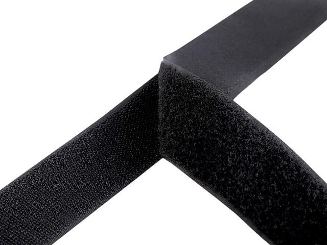 Klettverschluss Haken + Plüsch Breite 38 mm