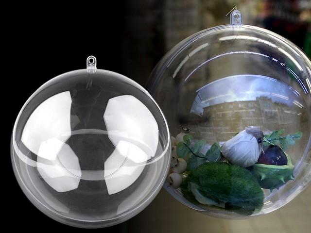 Plastová krabička koule Ø12 cm dvoudílná
