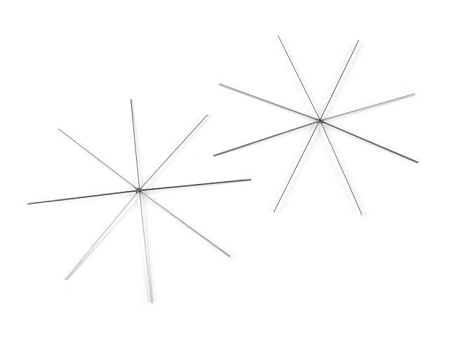 Hviezda / vločka drôtová šablóna Ø10 cm