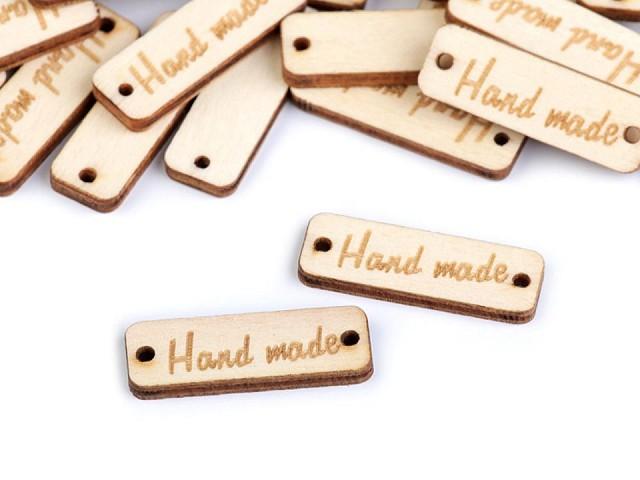 Etichete lemn Hand Made, 10x30 m