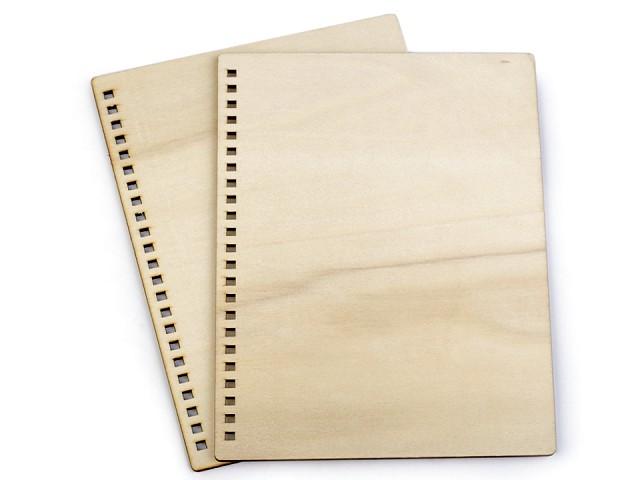 Drevené dosky na výrobu zápisníkov A5