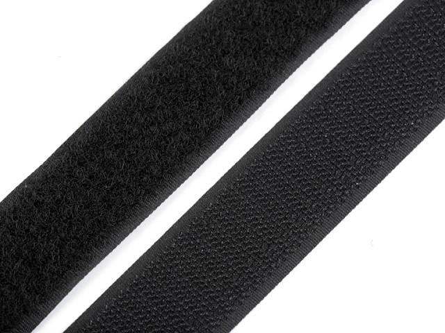 Suchý zips háčik + plyš šírka 25 mm
